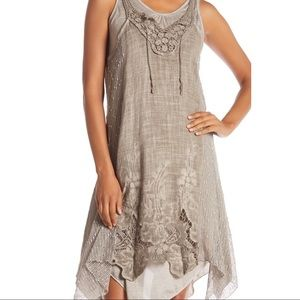 Simply Couture Layered Crocheted Knit Tunic